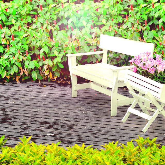 Dārza un terases mēbeļu krāsošana - Краски Alpina