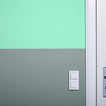 Dviejų atspalvių siena: ideali skiriamoji linija